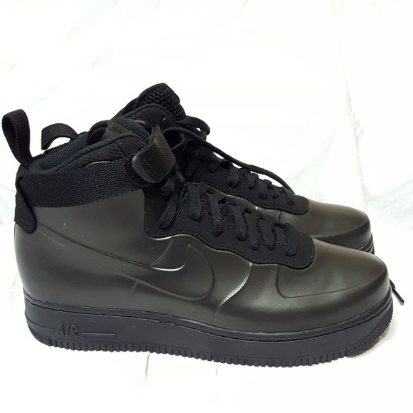 586d72a2f37 NIKE Air Force 1 One Foamposite Cup High Black